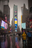 Hurricane Sandy at Times Square Stock Images