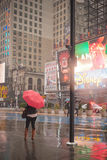 Hurricane Sandy at Times Square Stock Photography