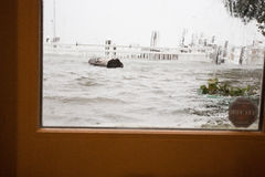 Hurricane Sandy View from the back door Stock Photo
