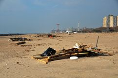Hurricane Sandys Aftermath Royalty Free Stock Photography