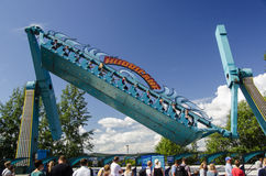 Hurricane at sarkanniemi Adventure Park Royalty Free Stock Photography