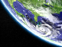 Hurricane satellite view Royalty Free Stock Photos