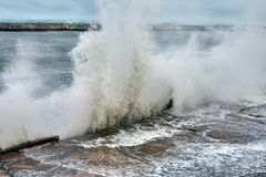 Hurricane storm in the Black Sea royalty free stock photos