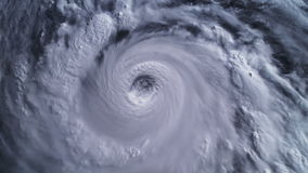 Hurricane Storm, satellite view. Elements of this image furnished by NASA.  stock footage