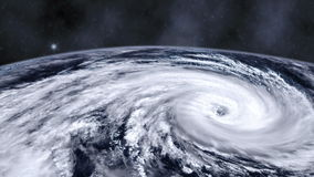 Hurricane storm tornado over the Earth from space, satellite view. stock footage