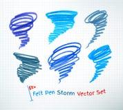 Hurricane symbols Royalty Free Stock Photo