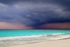 Hurricane tropical storm beginning Caribbean sea Stock Photography