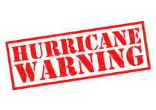 HURRICANE WARNING Stock Image