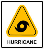 Hurricane Warning Sign Royalty Free Stock Photography