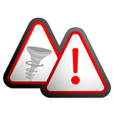 Hurricane warning signal Royalty Free Stock Photography