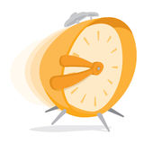 Hurried alarm clock Stock Image