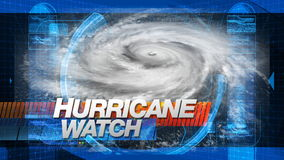 Hurrikanüberwachung - Titel-Grafiken lizenzfreie abbildung