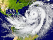 Hurrikan über dem Atlantik Stockbild