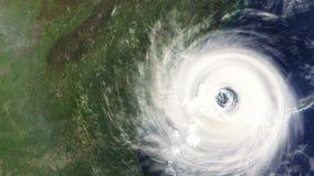 Hurrikan, der die Ostküste der USA schlägt stock video