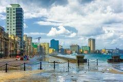 Hurrikan in der Stadt von Havana lizenzfreies stockfoto