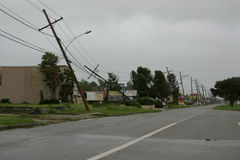 Hurrikan-Gustav-Schaden stockfotografie