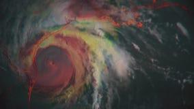 Hurrikan Harvey Einzigartige Radarzusammensetzung stock video