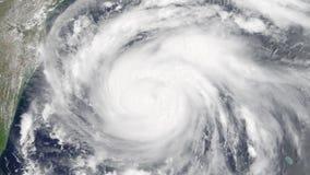Hurrikan Harvey Stunden vor der Herstellung des Landungsorts stock video footage