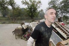 Hurrikan Irene beschädigt Quechee Stockbilder