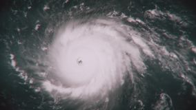 Hurrikan Irma auf seiner Weise zur Florida-Küste stock footage