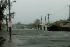 Hurrikan Sandy überschwemmt Bronx-Häuser lizenzfreies stockfoto