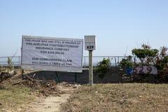 Hurrikan Sandy - 1-jähriger neuerer Verbands-Strand Stockbild