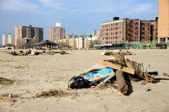 Hurrikan-Sandys Nachmahd lizenzfreie stockfotos