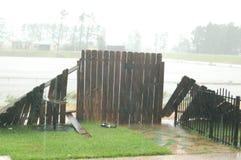 Hurrikan-Schaden während des Sturms Lizenzfreies Stockbild