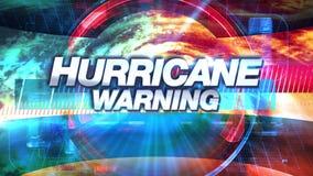 Hurrikan-Warnung - Sendung Fernsehgraphiken betiteln lizenzfreie abbildung