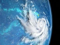 Hurrikan-Weg stock abbildung
