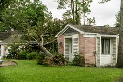 Hurrikannachwirkungen stockbild
