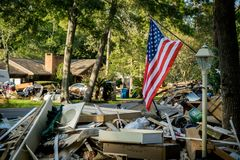 Hurrikannachwirkungen lizenzfreies stockbild