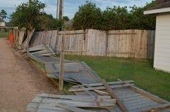 Hurrikanzaunschaden Stockfotografie