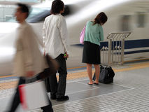 Hurry. An aspect from a shinkansen station in Japan Royalty Free Stock Photo