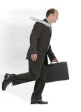 Hurry. Fast walking busy businessman sprint Royalty Free Stock Image