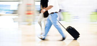 Hurry on airport Stock Photos