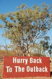 Hurry Back To The Outback Stock Images