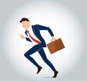 Hurry businessman illustration vector Stock Image