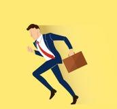Hurry businessman illustration vector Royalty Free Stock Photos