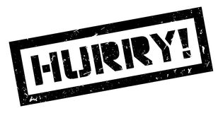 Hurry rubber stamp Stock Photography