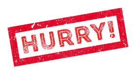 Hurry rubber stamp Royalty Free Stock Photos