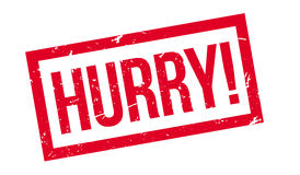 Hurry rubber stamp Stock Image