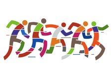 Hurry Running people. Stock Image