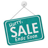 Hurry Sale Ends Soon Sign Royalty Free Stock Images
