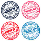 Hurry up. Set of stamps. vector illustration Stock Images