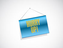 Hurry up banner sign illustration design Stock Photos