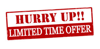 Hurry up limited time offer Stock Image