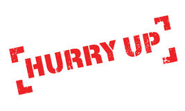 Hurry Up rubber stamp Royalty Free Stock Photo
