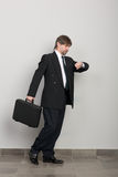 Hurrying businessman Royalty Free Stock Images