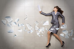 Hurrying businesswoman Stock Photography